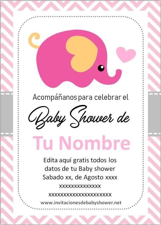 Las Mejores Invitaciones De Baby Shower De Niña Para Editar 2020 Baby Shower Invitaciones Plantillas Para Invitación De Cumpleaños Invitaciones Para Baby