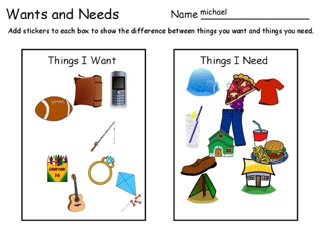 photos needs and wants - Google Search | scuola--grado 1 ...