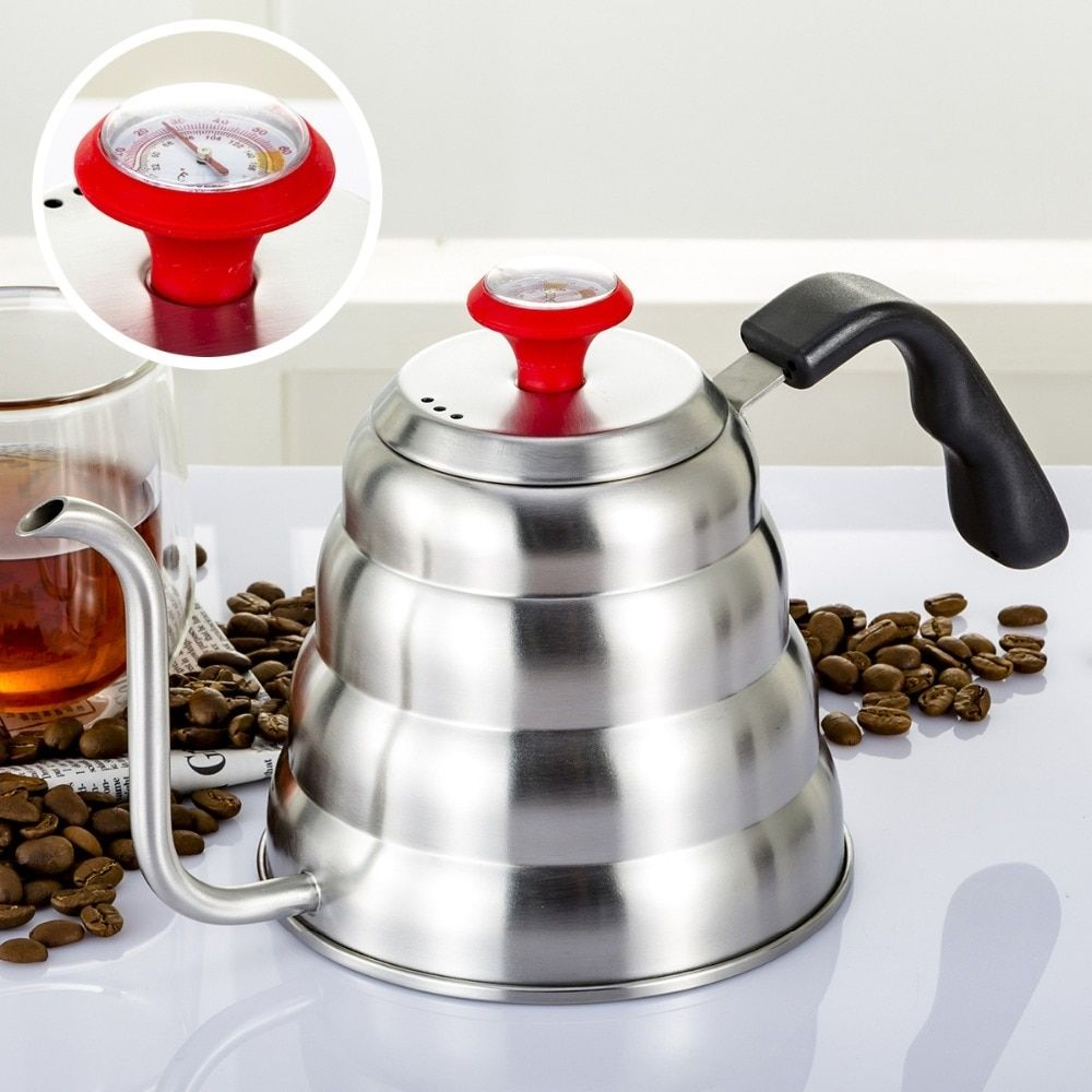 Creative gooseneck coffee pot with thermometer in 2020