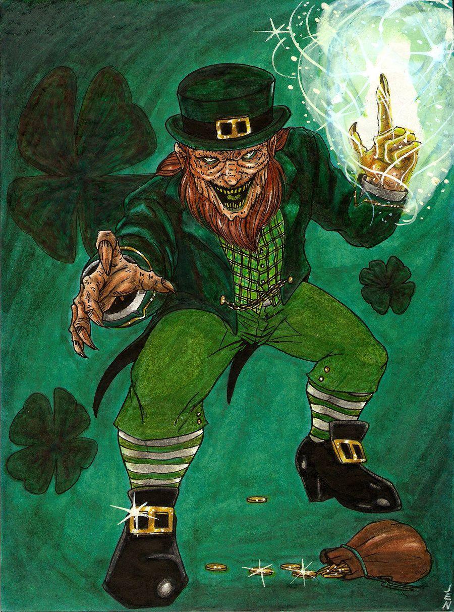 leprechaun by blackcoatl deviantart com on deviantart horror