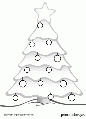 christmas tree print color fun free printables coloring pages