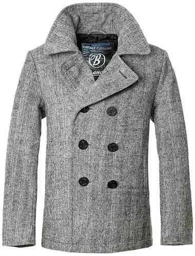 Brandit Pea Coat Antrasiitti/hopea
