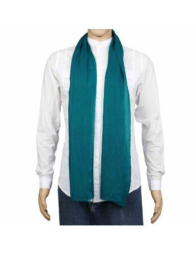 4dd12ad6f7e6 Echarpe bleue pour homme - Accessoire 100% Cachemire pur Pashmina 30 x 152  cm  Amazon.fr  Vêtements et accessoires