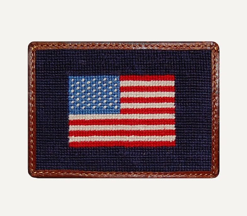 Smathers and Branson American Flag Credit Card Wallet – Man Outfitters