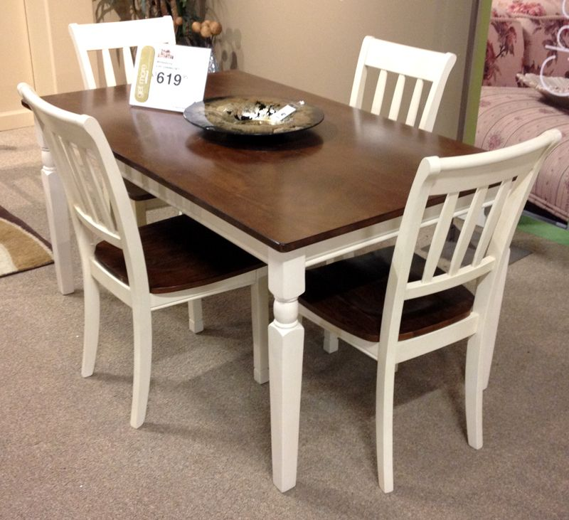 Whitesburg Dining Table With The Warm Two Tone Look Of The Cottage White And Burnished Brown Finishes Beauti Casual Dining Table Dining Table Ashley Furniture