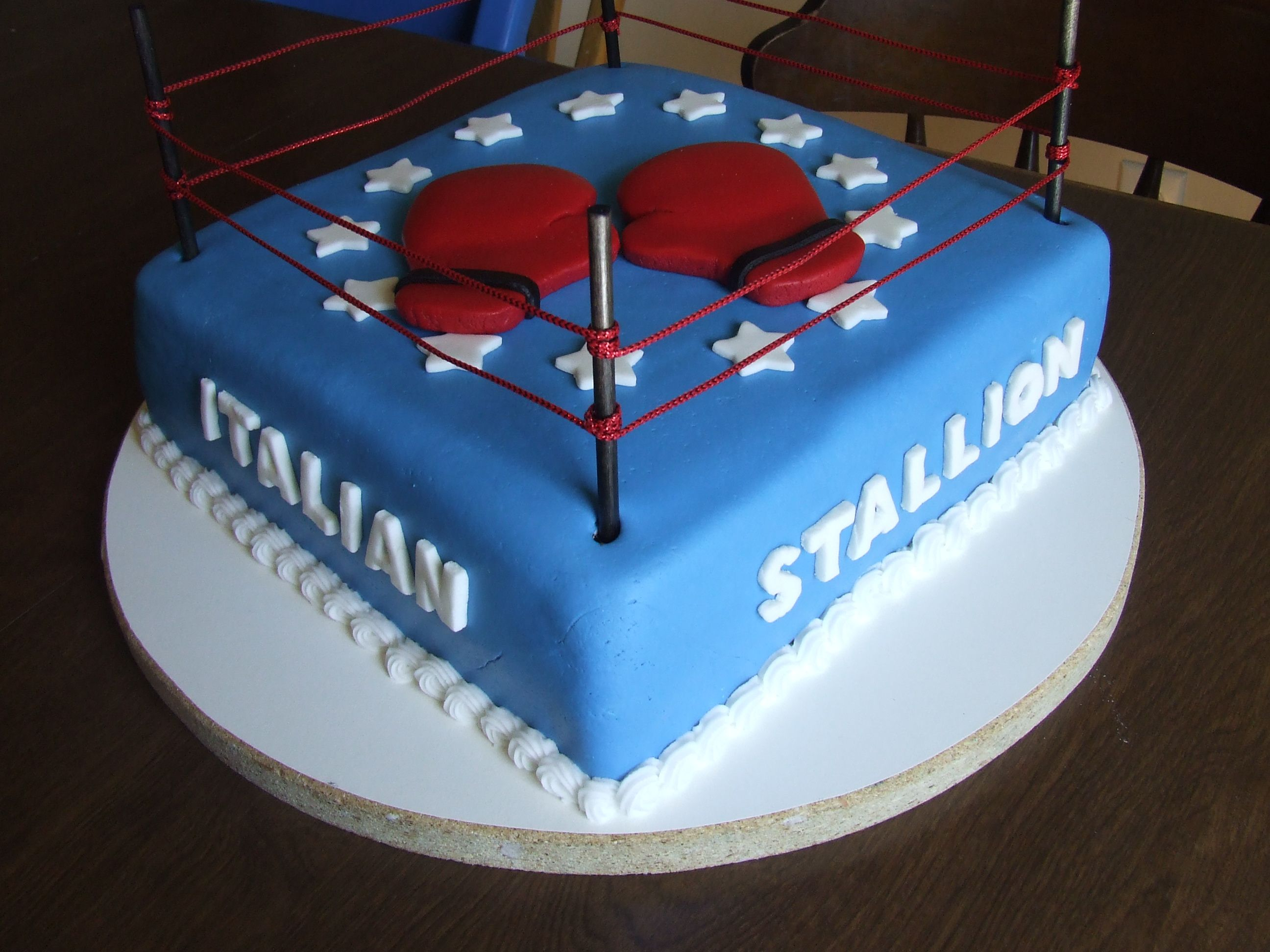 ROCKY Theme Cake This Was Actually A Baptism Cake For A Guy Who - Birthday cake for a guy