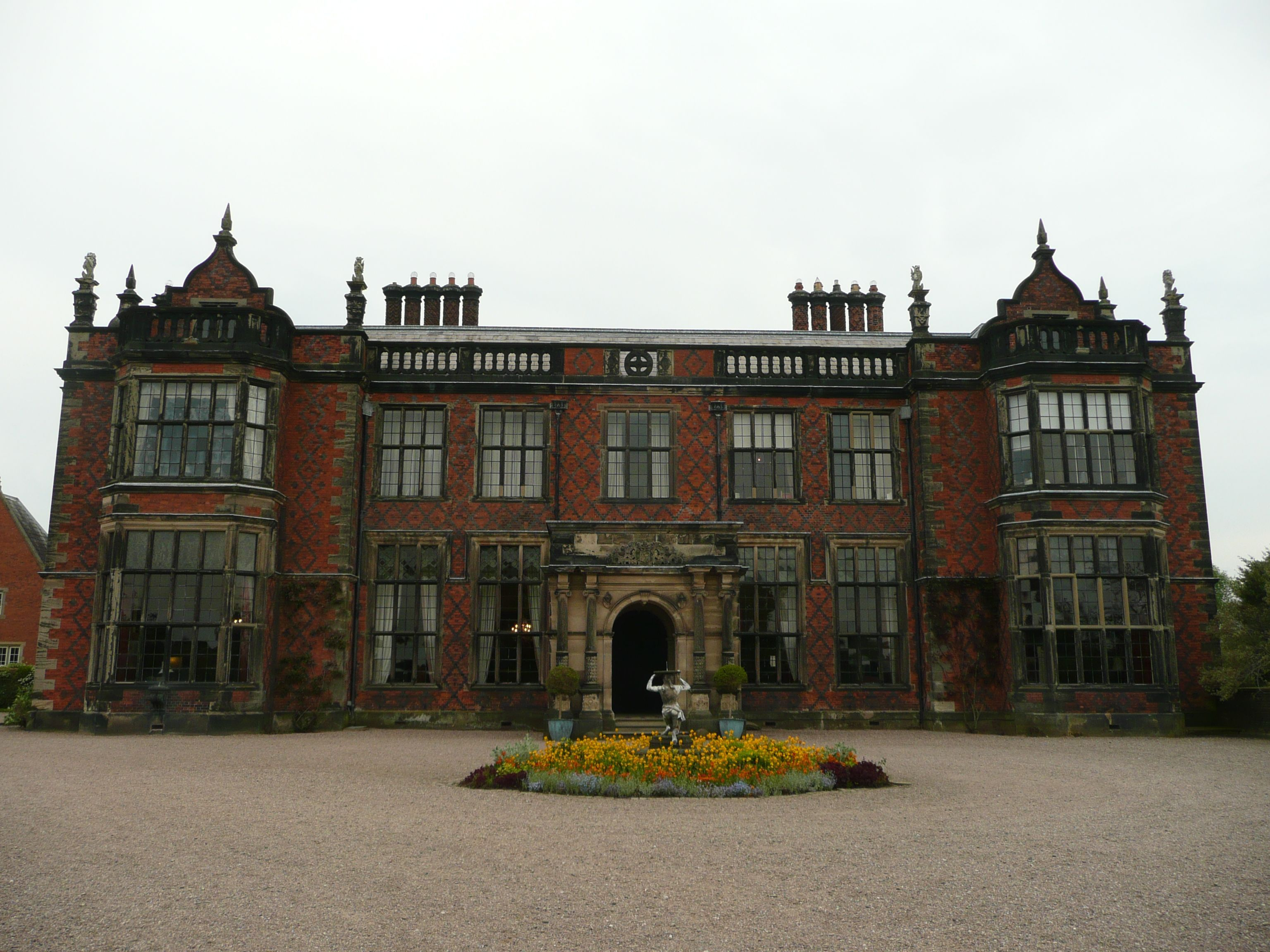 Arley Hall, Cheshire: 'Jacobethan', built 1832-1845 by George Latham (†1871) for Rowland Egerton-Warburton