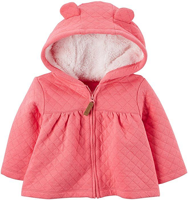 97e2b42af Amazon.com  Carter s Baby Girls  3M-24M Hooded Quilted Jacket 3 ...