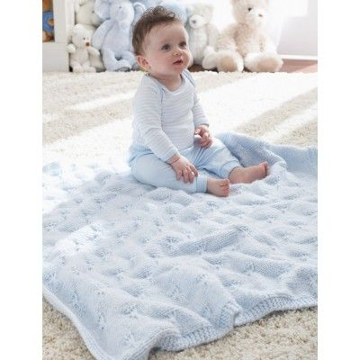 Free Intermediate Baby S Blanket Knit Pattern Knitted