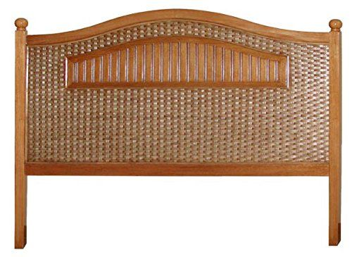 Cottage Wood and Wicker King Size Headboard