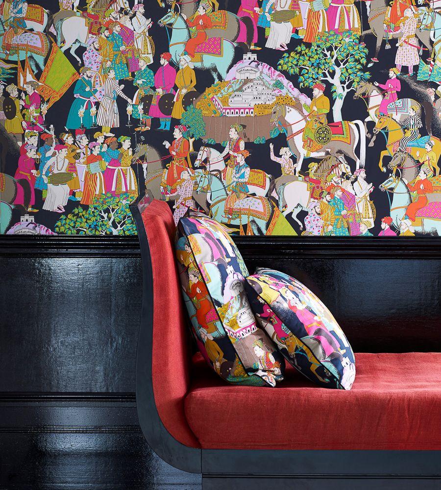 Manuel Canovas Dara Noir Wallpaper 03074/03 Papiers
