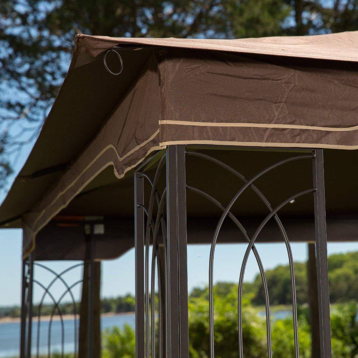 Gazebo With Mosquito Netting Amazon Prime Amazon Com Sunjoy L Gz798pst E Regency Ii Garden Outdoor Affiliate Lin Gazebo Outdoor Gardens Outdoor