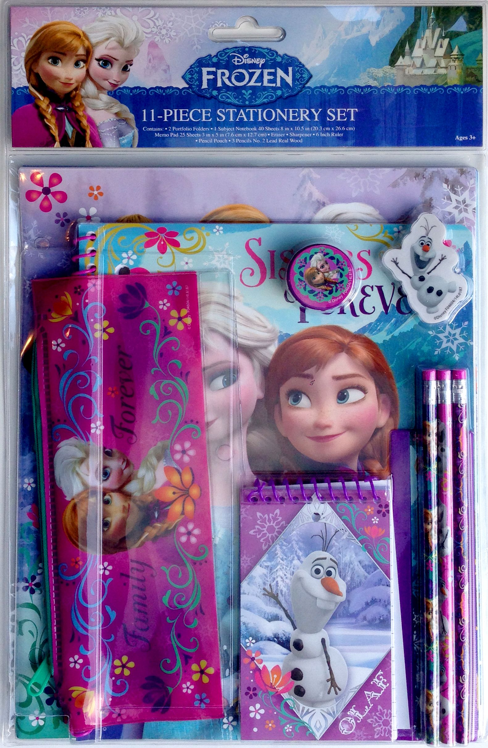 6 pc DISNEY FROZEN PENCILS /& 20 PACK ERASERS BIRTHDAY PARTY FAVOR ELSA ANNA OLAF