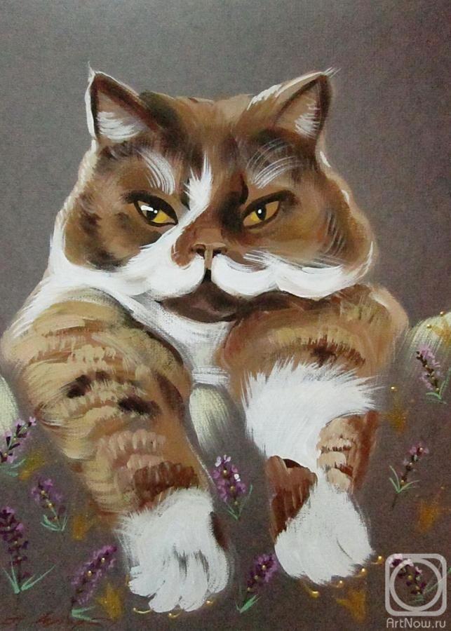 Painting «Tamerlan» Painting, Art, Cat art