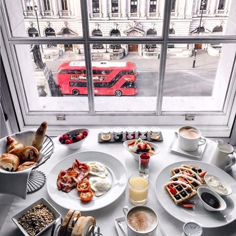 Breakfast with a view of London at @sofitellondon thank ...