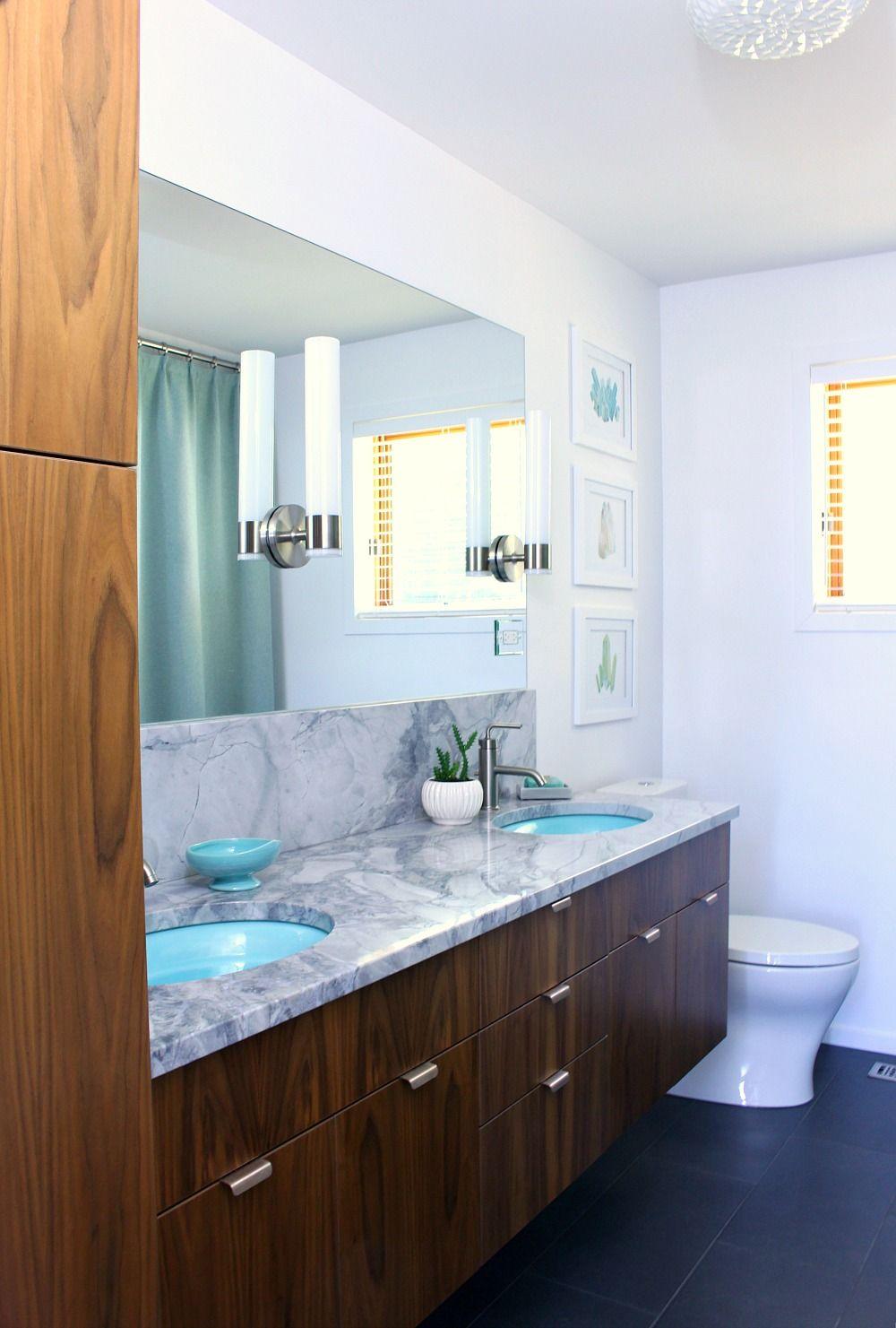 a mid century modern inspired bathroom renovation before after rh pinterest com