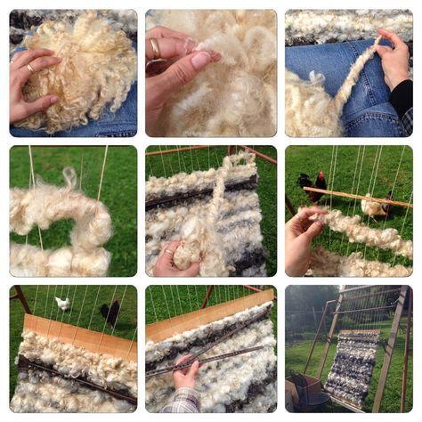 Weaved raw fleece rug