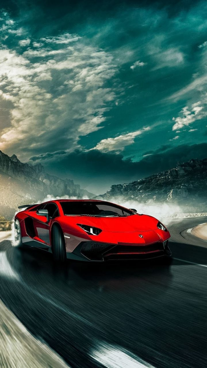 Sports Car On Road Lamborghini Aventador 720x1280 Wallpaper Mobil Sport Mobil Impian Mobil Mewah