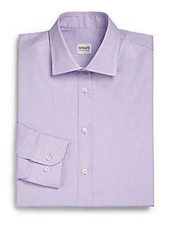 Armani Collezioni - Solid Cotton Dress Shirt