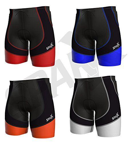 with Soft Chamois Swim-Bike-Run Sparx Mens Triathlon Short Tri Shorts Cycling Short |1 Zippered Pocket Trishort Mens Triathlete Short