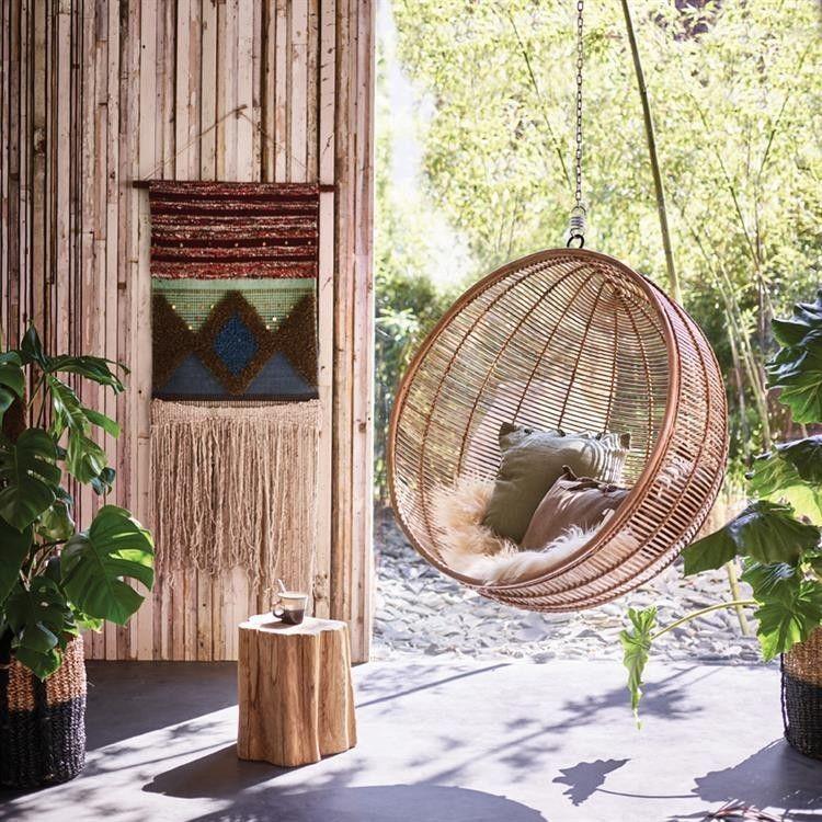 Hk Living Hangstoel Buiten.Hkliving Hangstoel Rotan Bal Naturel Lente 2018 Hangstoel