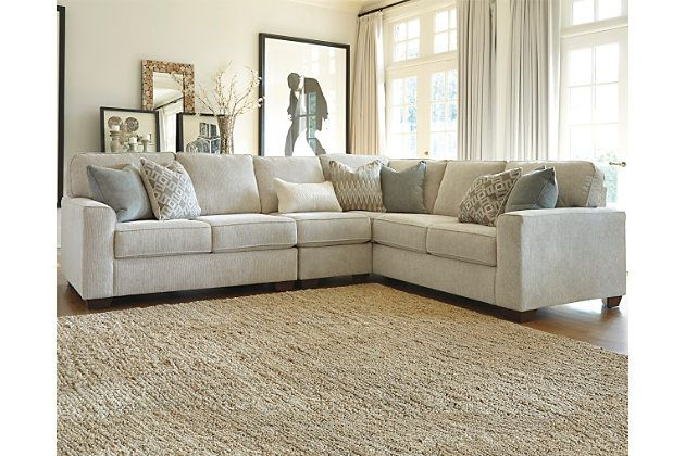 Sand Salonne 3Piece Sectional View 1 ashley furniture 140000