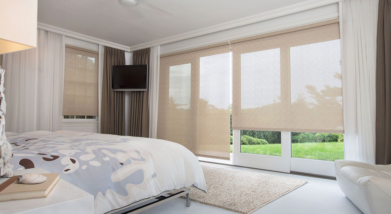 Master Bedroom Note Sliding Doors May Add Sheer Curtains