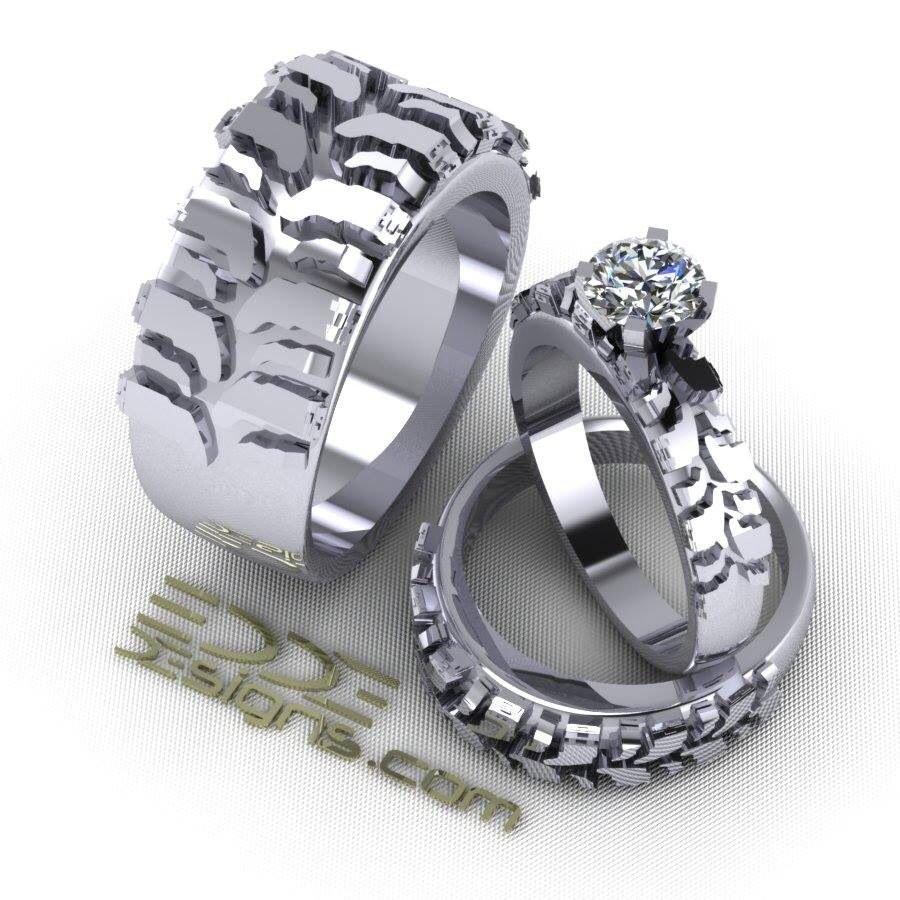 mud tire wedding ring Motocross wedding ring More