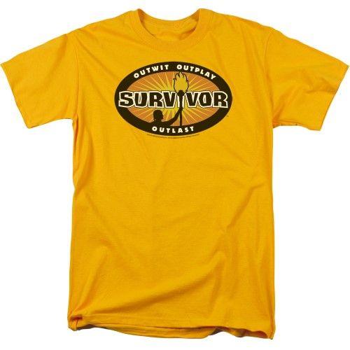 Survivor Gold Burst Short Sleeve Mens Shirt