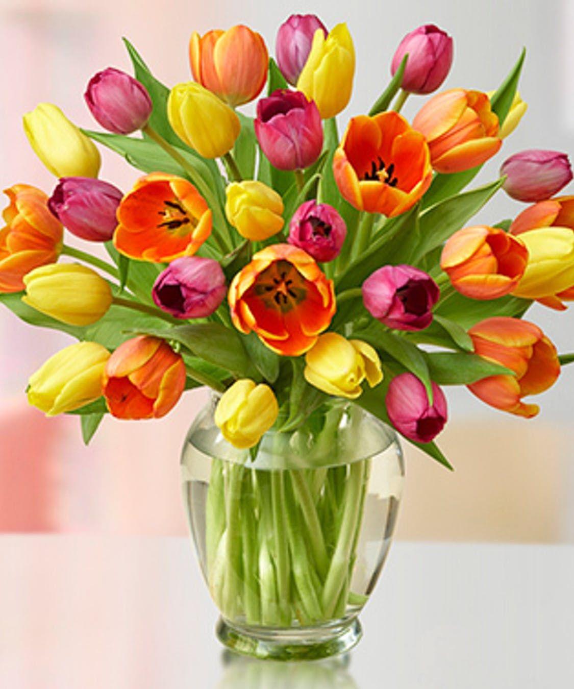 Amazing tulips tulips in vase flower arrangements