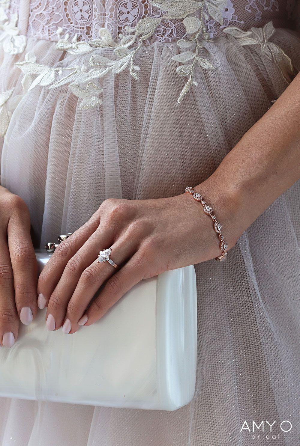 950ca693a Rose Gold Wedding Bracelet, Beautiful Bracelet, Wedding Jewelry Sets,  Jewelry for Wedding Dress