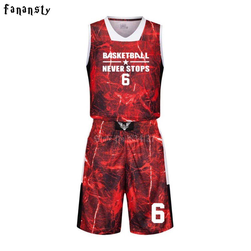 High Quality Basketball Jerseys Boys Breathable Custom