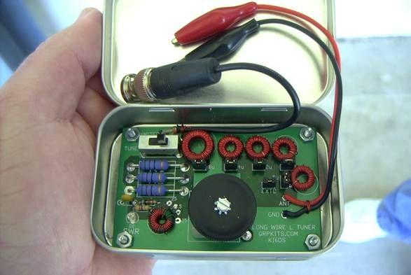 Ham radio longwire antenna tuner | Altoids Tins | Ham radio antenna