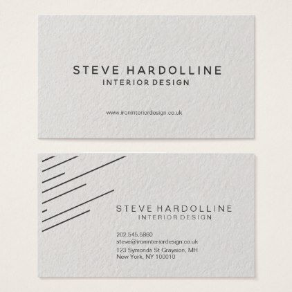 Gray diagonal stripes on textured business card reheart Choice Image