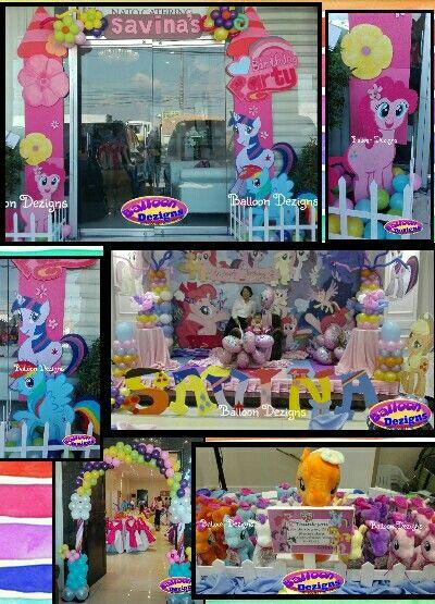 My little pony theme party.