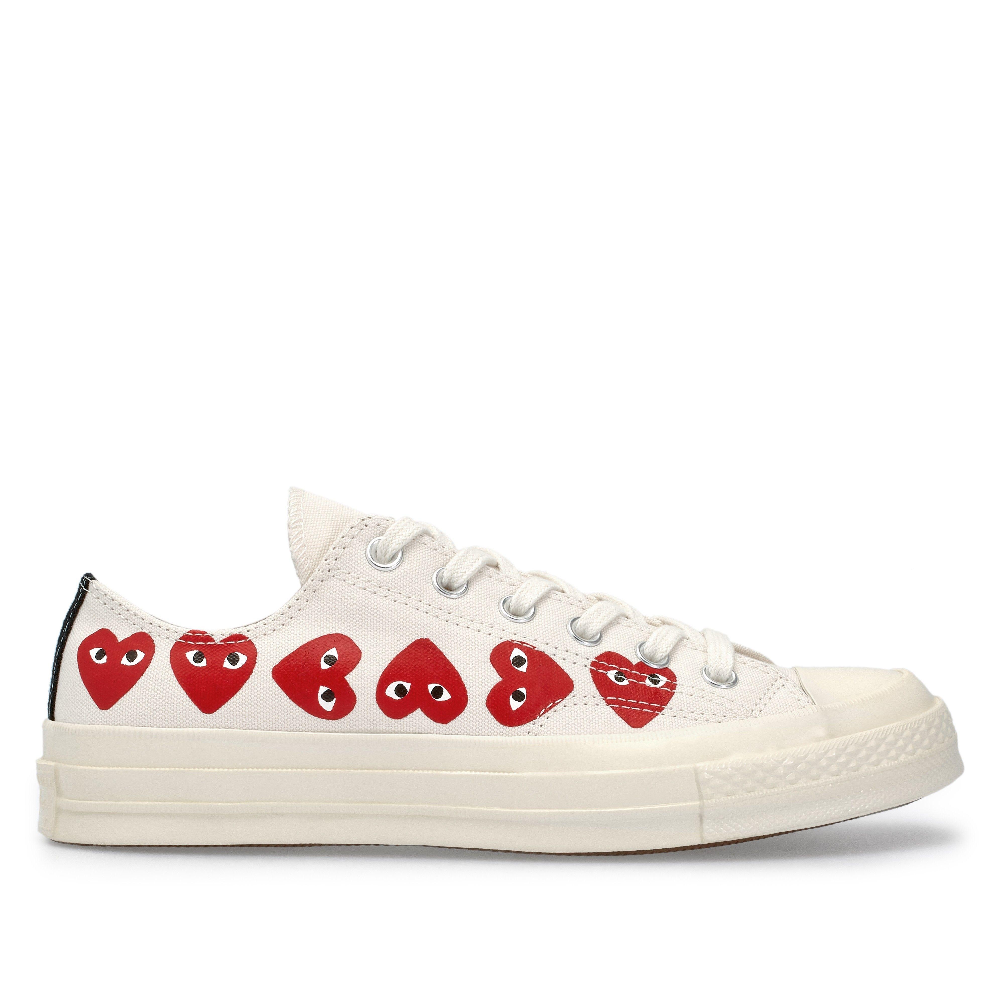 Play Comme des Garçons Converse Multi Red Heart Chuck Taylor ...