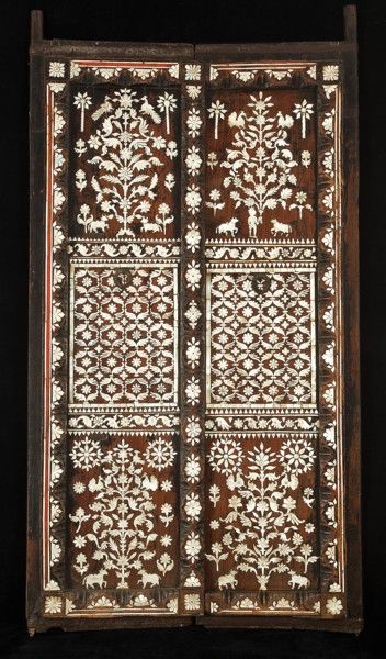 Pair of Indian doors profusely inlaid with mother of pearl C. 1700 TO C.  sc 1 st  Pinterest & Pair of Indian doors profusely inlaid with mother of pearl C. 1700 ...