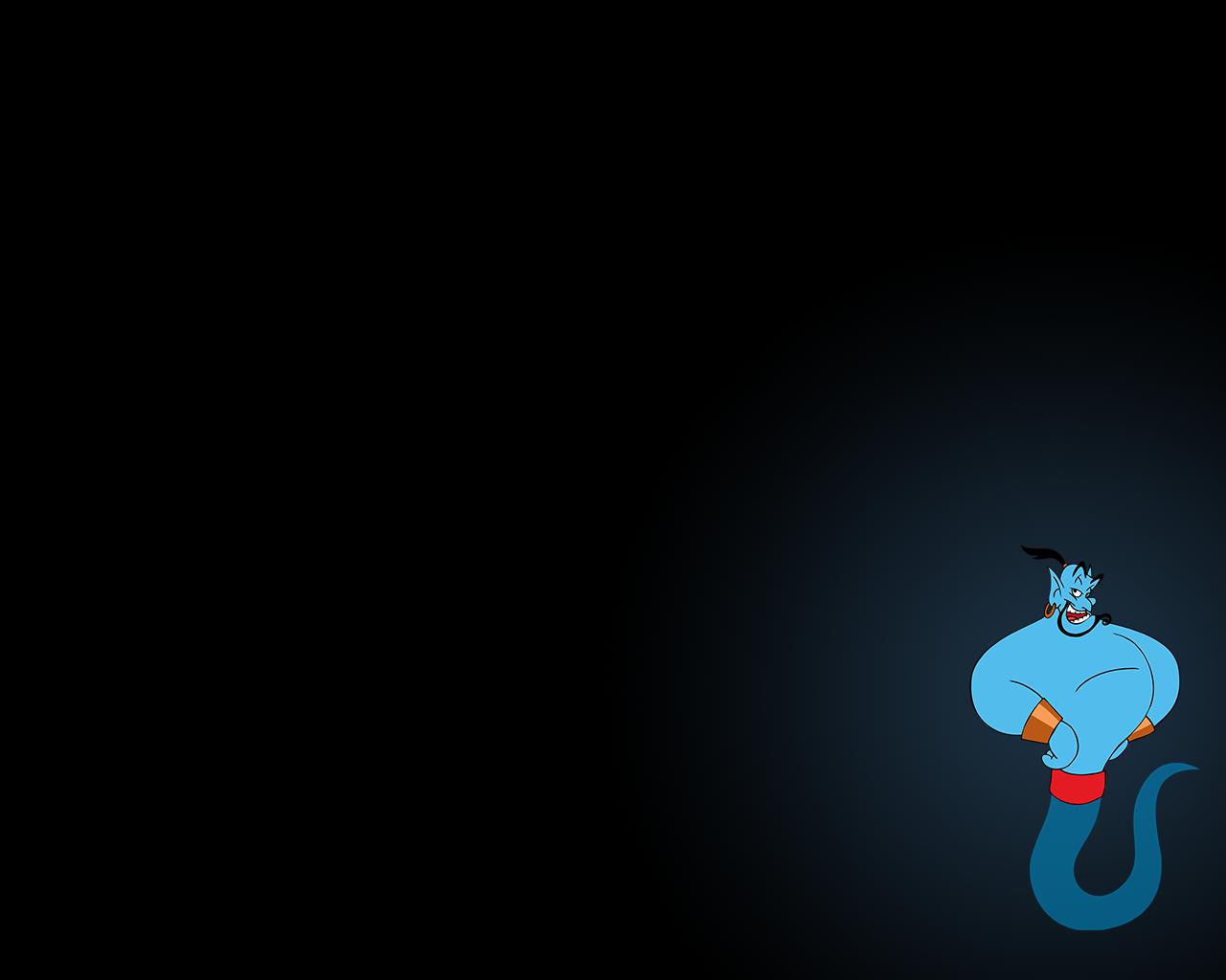 Aladdin Genie Wallpaper 1280x1024