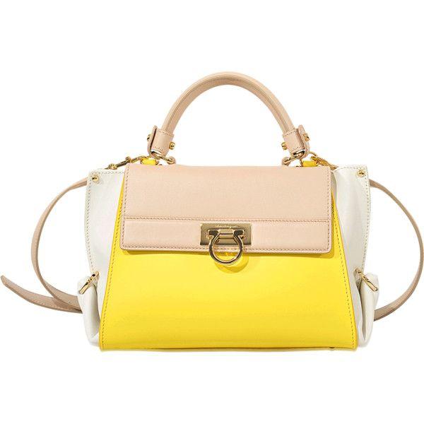 ac8bc4aee7 Salvatore Ferragamo Color Block Sofia Small bag ( 1
