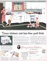 Youngstown Steel Kitchens 1948 Ad Twin Bowl Kitchenaider Cabinet Sink Mullinaider Automatic Waste Disposer Swingin Youngstown Flea Market Flip Steel Kitchen