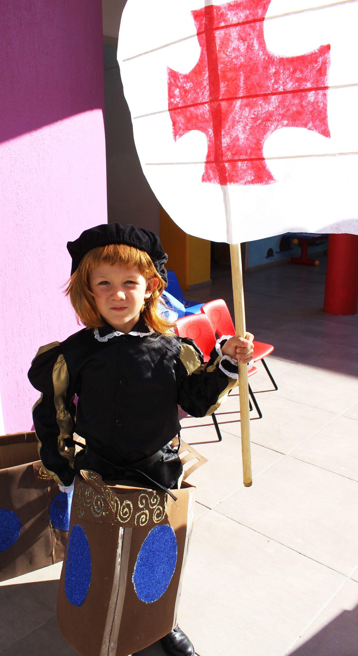 Cristobal Colon Bandera Diy Niño Disfraz Cristobal Colon Para Niños Cristobal Colón Cristobal