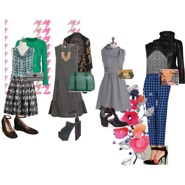"""""""houndstooth."""" by camariej on Polyvore"""