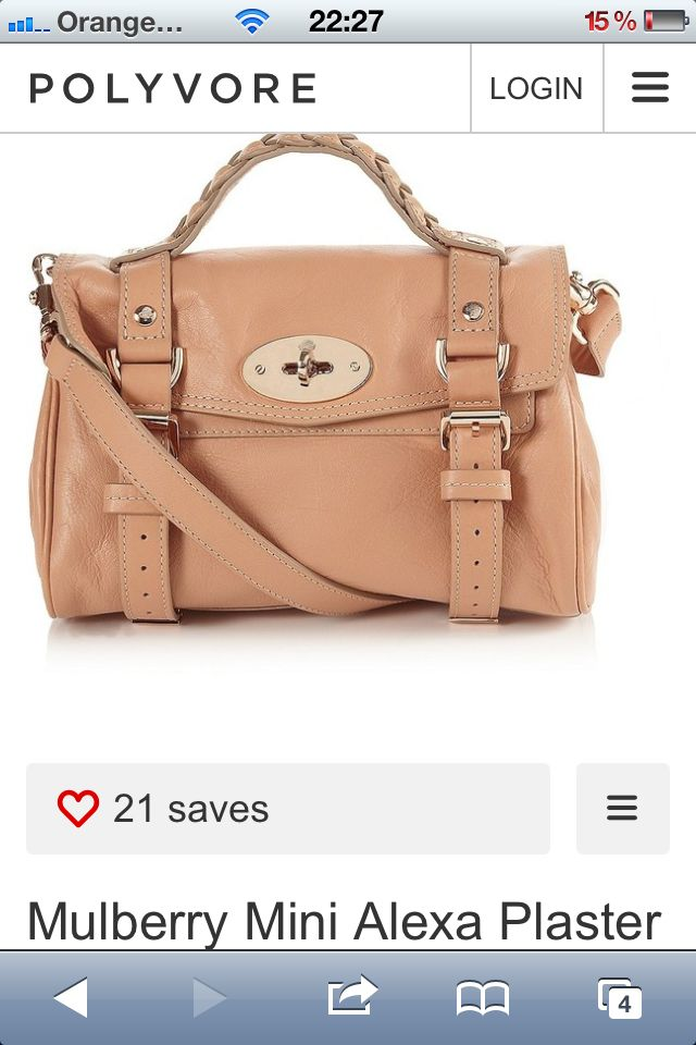 Mulberry mini alexa in plaster pink - just bought!!
