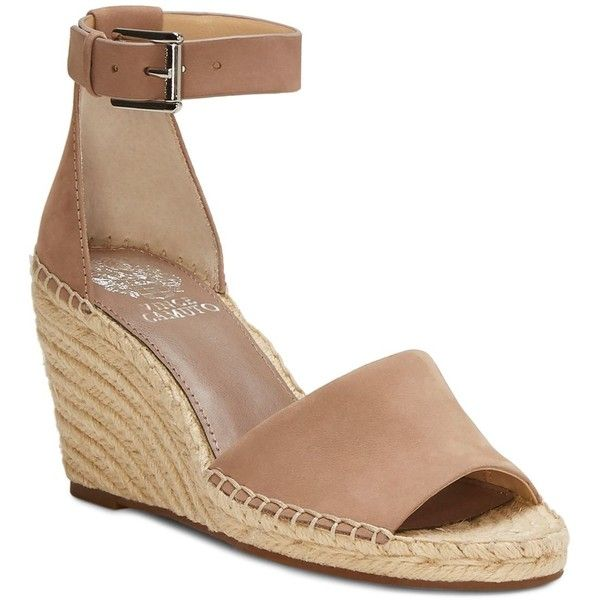 20ae913d54f Vince Camuto Women s Leera Suede Espadrille Wedge Sandals featuring  polyvore
