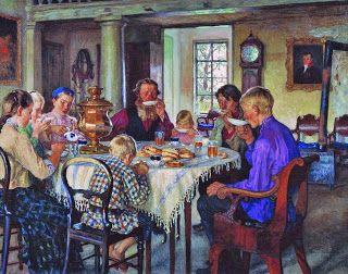 Breakfast by Nikolay Bogdanov-Belsky