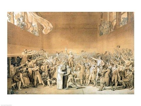 The Tennis Court Oath 20th June 1789 By Jacques Louis David French Revolution Tennis Court Oath