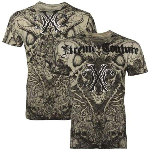 459d697b9 Xtreme Couture AFFLICTION Mens T-Shirt AZTEC Skulls Tattoo Biker UFC M-4XL  $40 #Affliction #GraphicTee