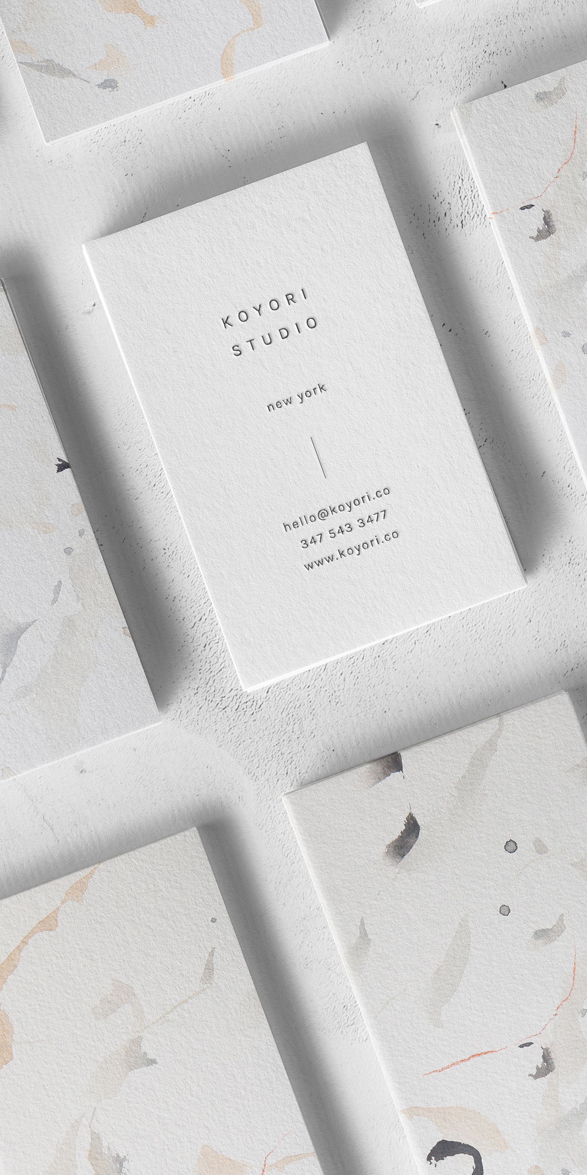 Koyori A Vertical Business Card Design With Minimal Sans Serif