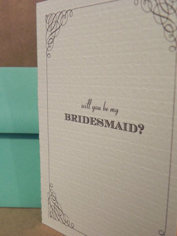 Will You Be My Bridesmaid Wedding Greeting by DarbyCardsNashville, $2.25
