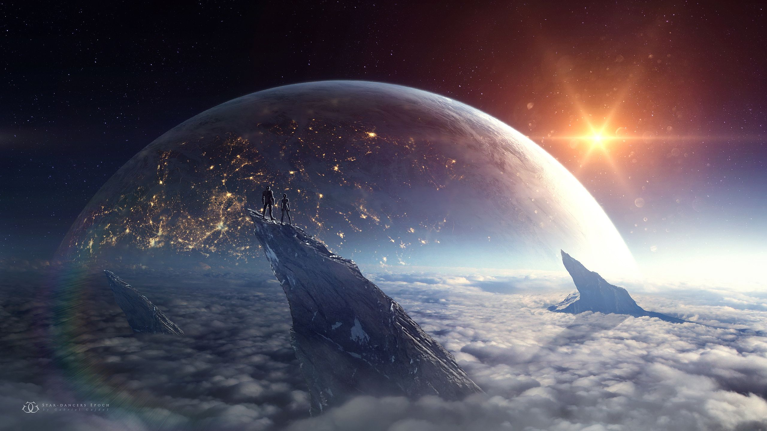 Rising Planet 2560x1440 Fond Ecran Smartphone Cyberpunk